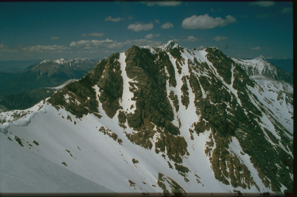 The summit of Peak 11967 from its lower south summit.