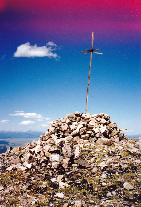 This peak served as a triangulation station for surveyor T.M. Bannon. Rick Baugher Photo