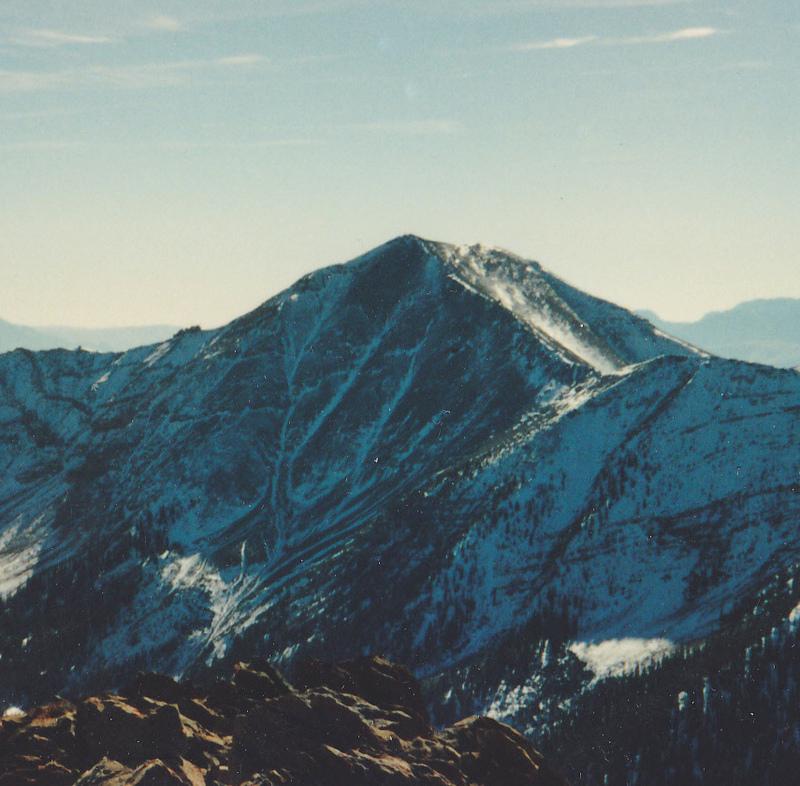 Big Sister viewed from Rust Peak. This peak ios also know as Lexis Peak. Rick Baugher Photo 10-28-90