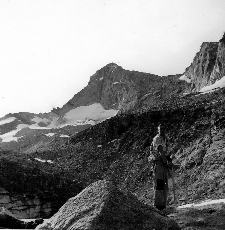 The north face of Goat Mountain. Francis Willmarth of Berkley, California. Evilio Echevarria Photo
