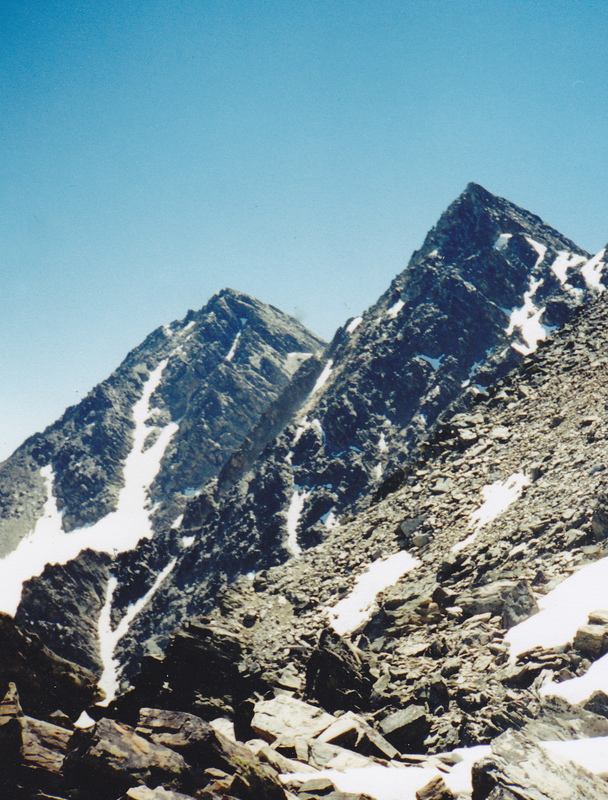 South and North Doublet peaks. This shot was taken from Monument Peak/North Doublet col. Rick Baugher Photo