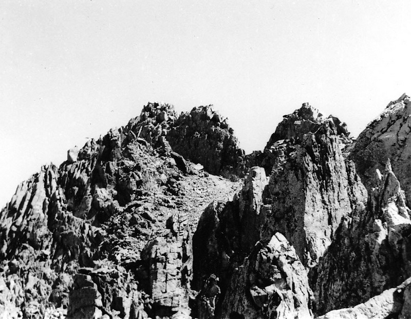 This is the summit ridge of what Louis Stur called Mount Hancher. (Ed. Note: I am not sure which peak this is. The name has not stood the test of time.) Evilio Echevarria Photo