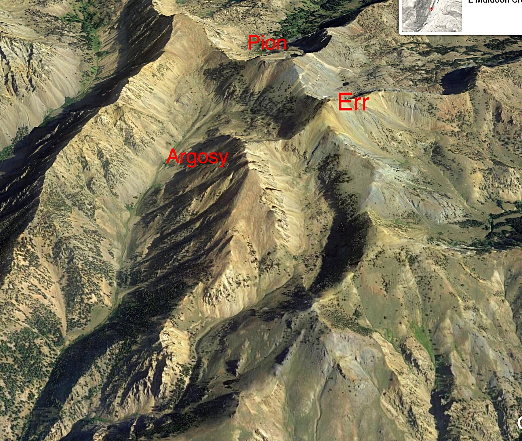 A Google Earth image of the Argosy Trio.