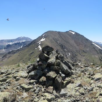 Summit of Peak 10536 with Atlas Peak in the background. Photo - Steve Mandella