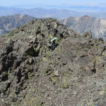 Traversing the north ridge of Atlas Peak. Photo - Steve Mandella