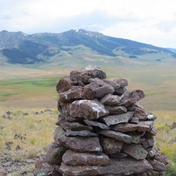 Reed and Davis Summit Cairn. Photo - Steve Mandella