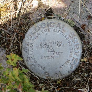 Reed and Davis Survey Marker. Photo - Steve Mandella