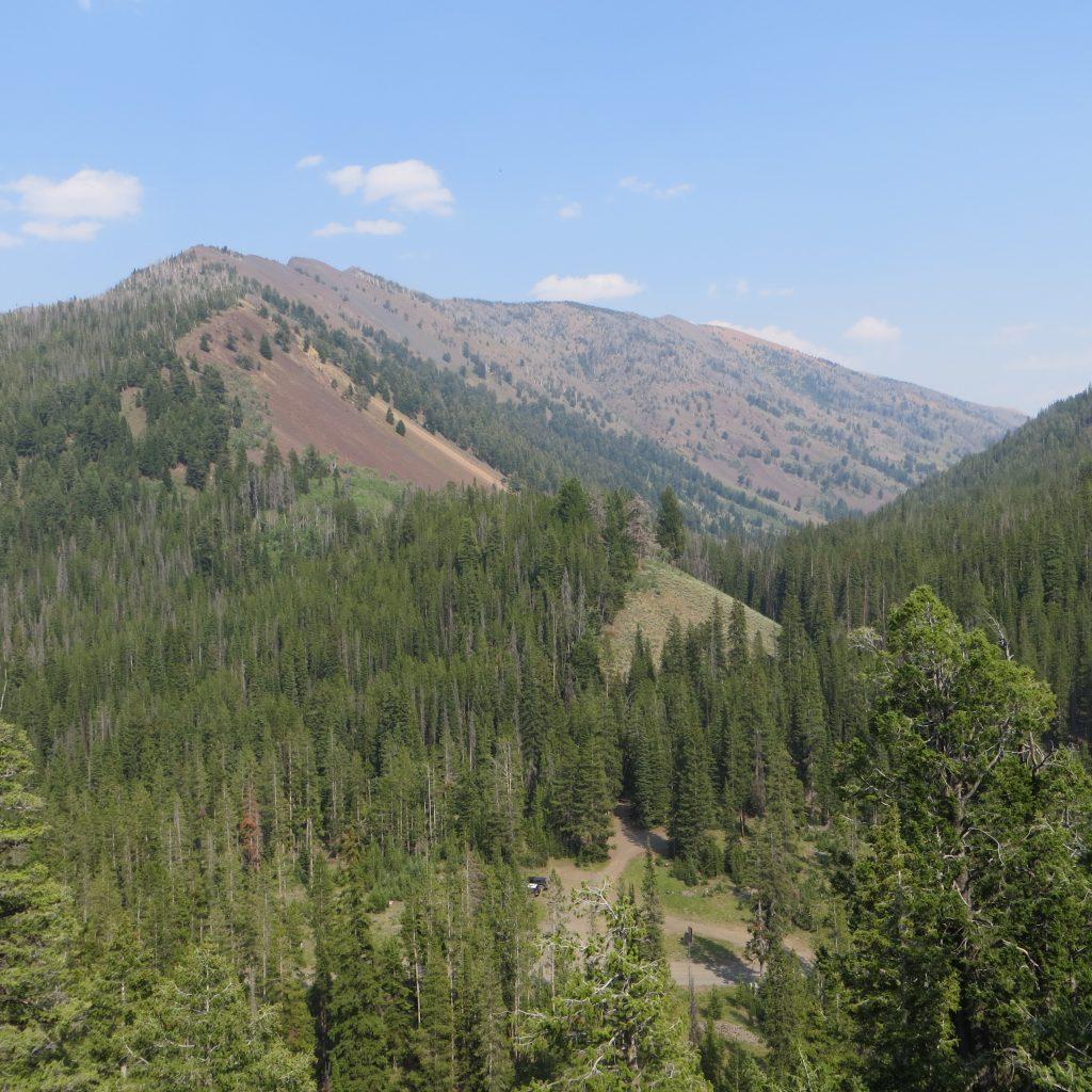 Summit Creek Peak from the Summit of Peak 8832. Steve Mandella photo.
