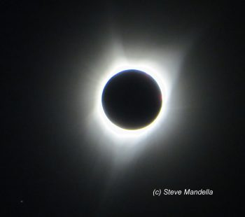 Totality from Stouts Mountain Summit.
