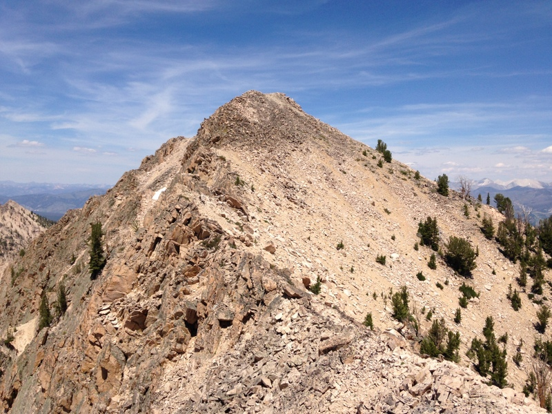 Once you hit the top of the peak's west ridge is a short scramble east to the summit.