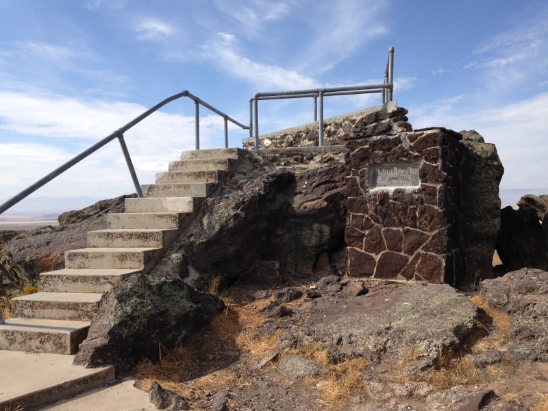 The viewing platform on the summit,.