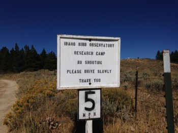 This sign identifies the current use of the summit area.