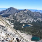 Little Mill (Mill Mtn. is on the left). The SW Ridge ascends from the saddle NW of Mill Lake. Judi Steciak Photo