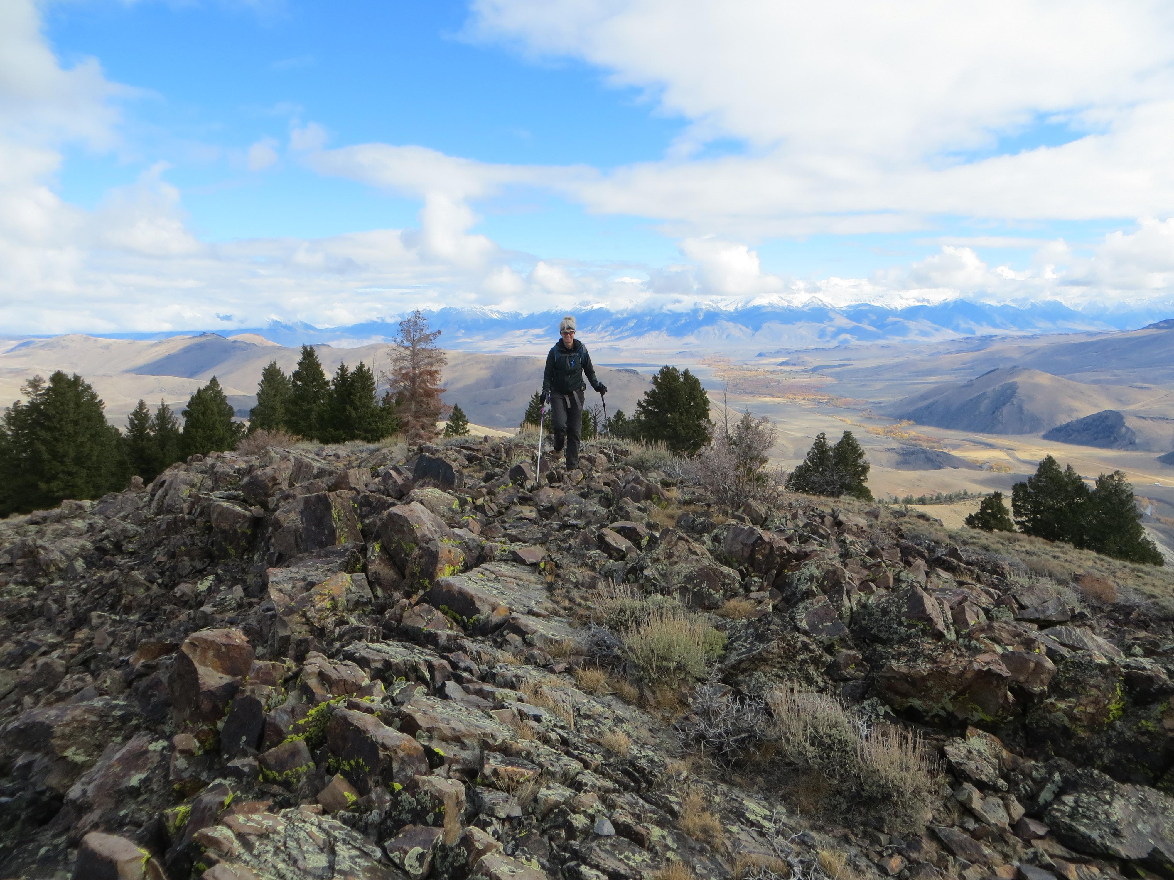 The rocky summit of Peak 8700. Photo Steve Mandella