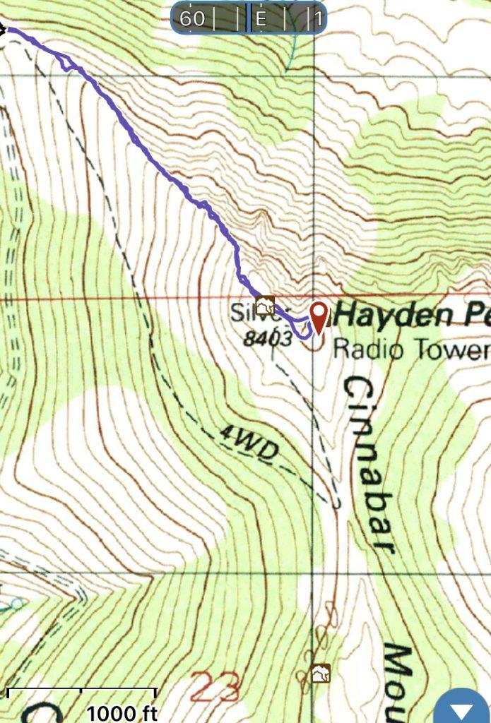 Hayden Peak from the northwest.