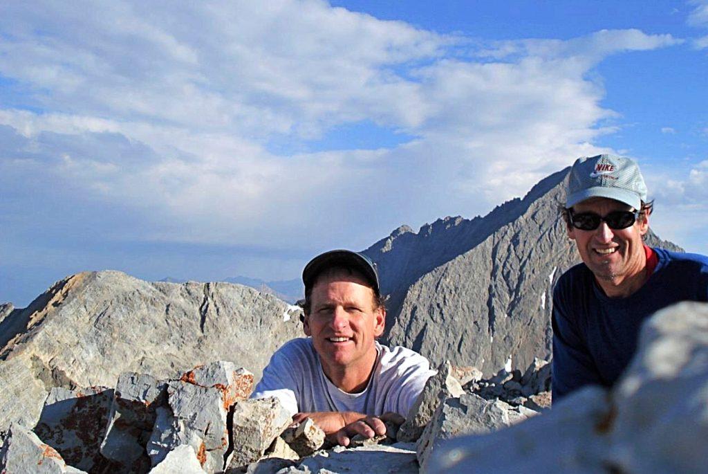 Dennis and Pat on the summit of Sacajawea Peak