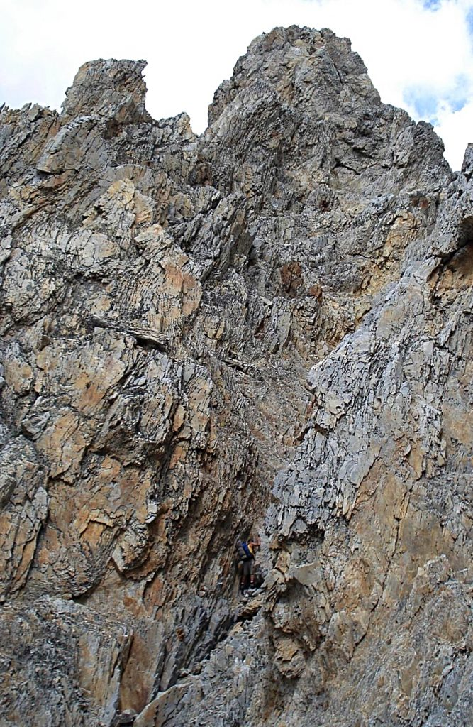 Steep terrrane on the Idaho to 11967 traverse.