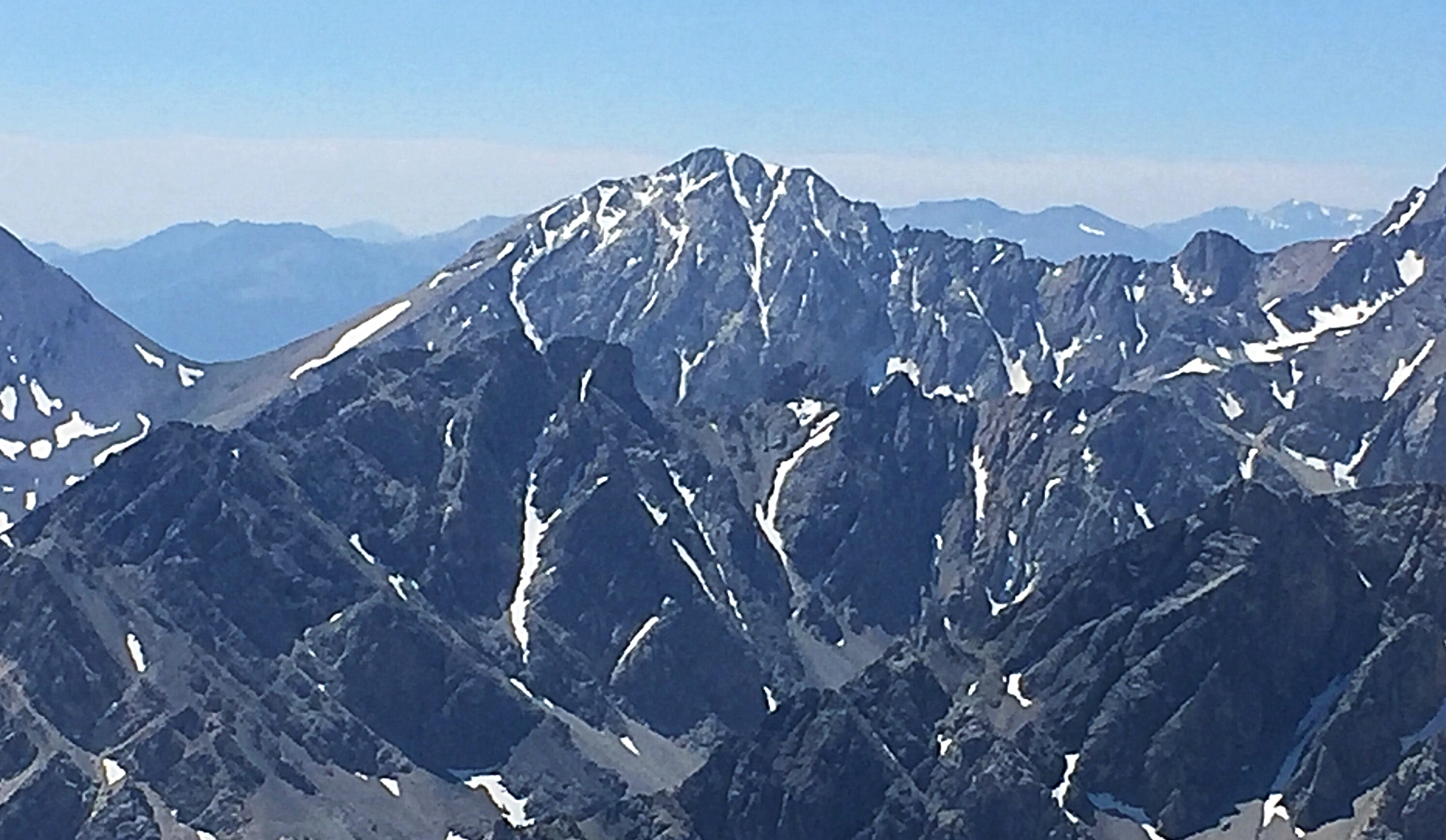 The north face of White Cap Peak from Mountaineers Peak.