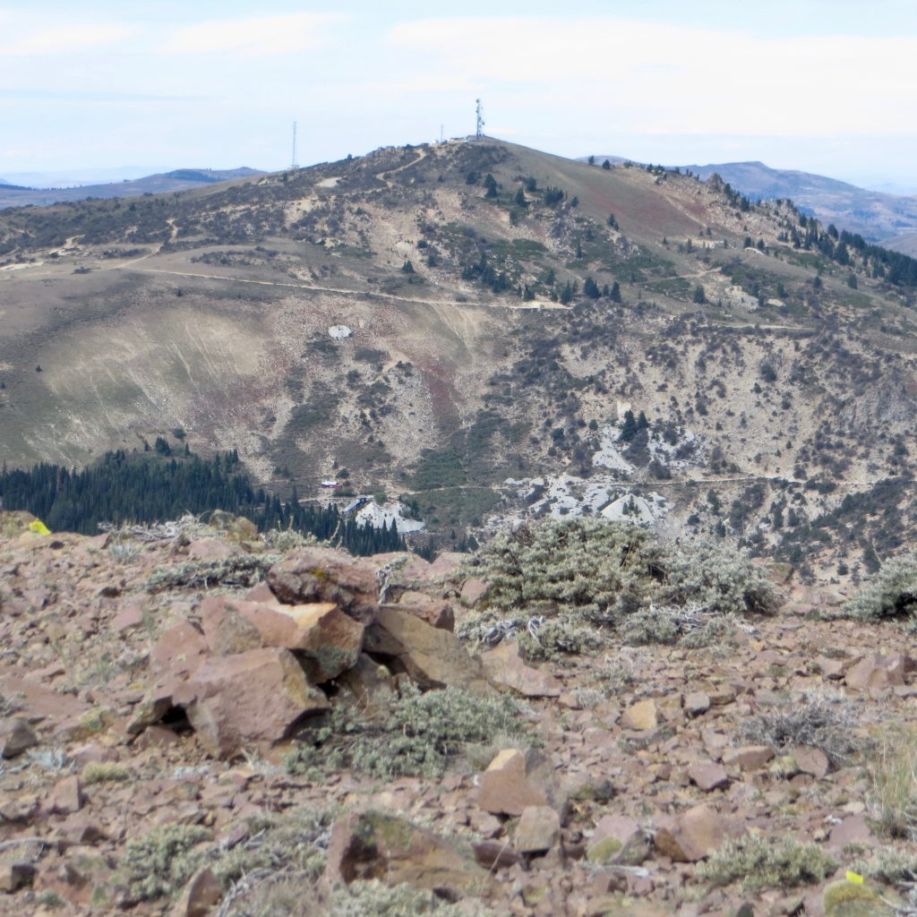 A view of War Eagle Mountain from the summit of Turntable Mountain. Steve Mandella photo.