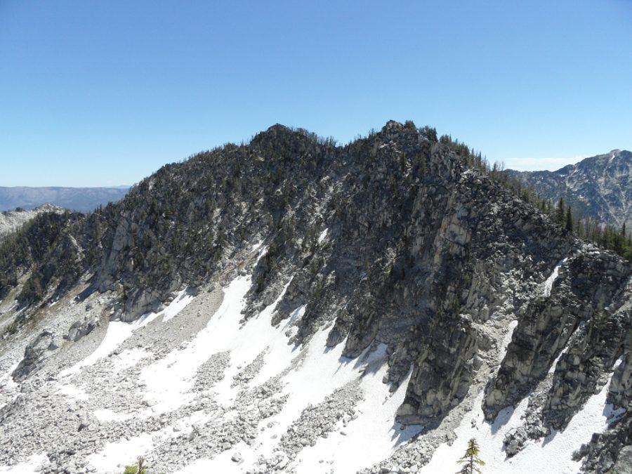 Peak 8808. The summit is left most point. John Platt Photo
