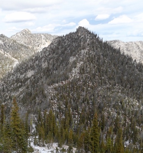Rainbow Peak from Bearpaw Peak. John Platt Photo