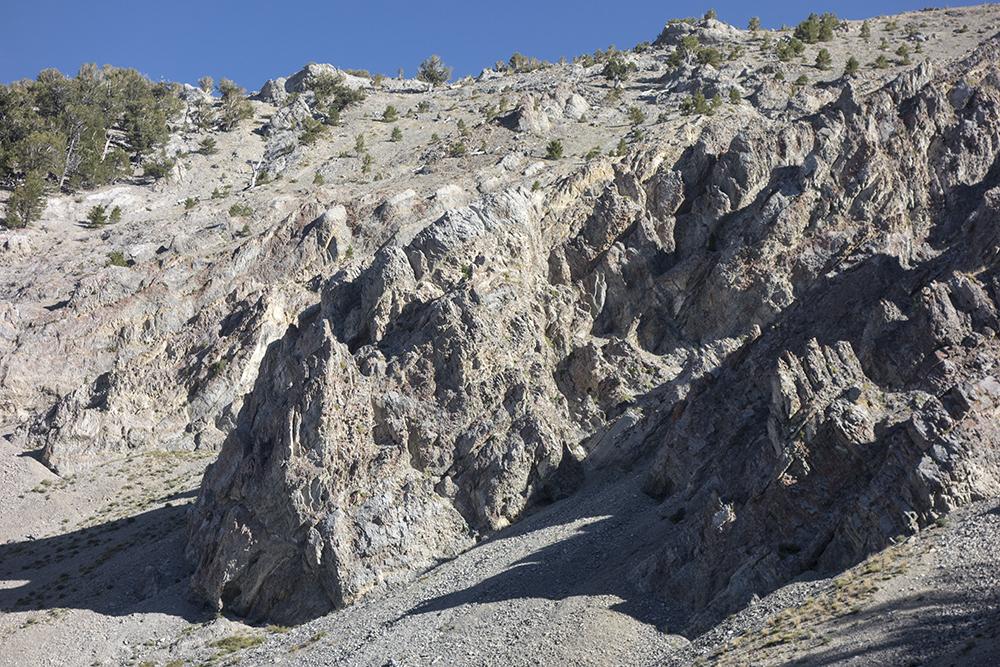 The route to the ridge. Larry Prescott Photo