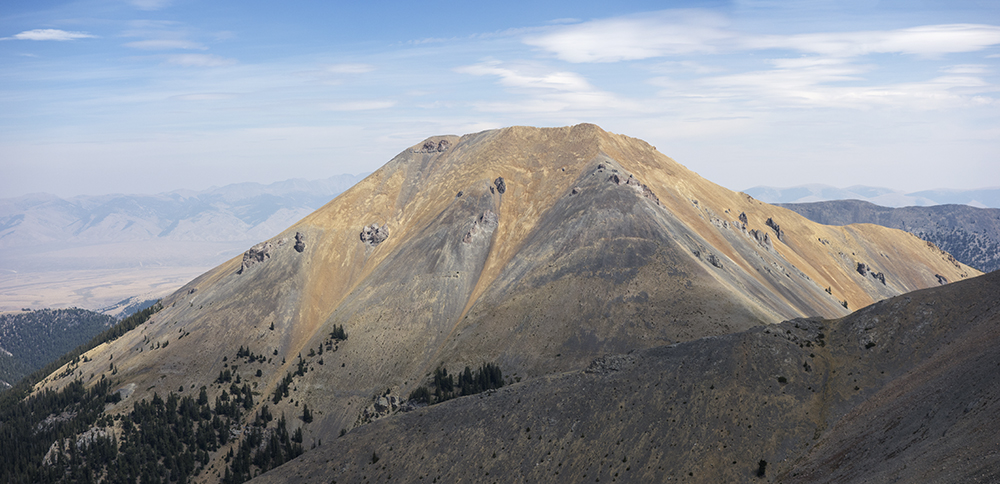 Rust Peak from the main Lemhi crest. Larry Prescott Photo