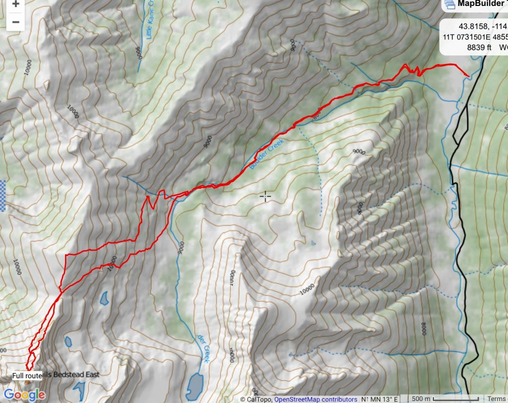 Larry Prescott provided his GPS track for his 2016 climb.