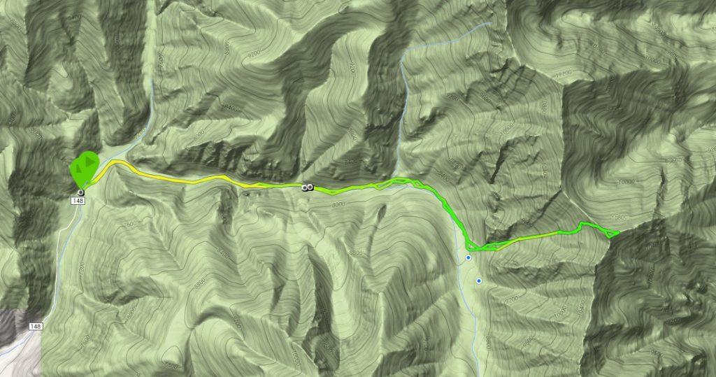 Larry's GPS track.