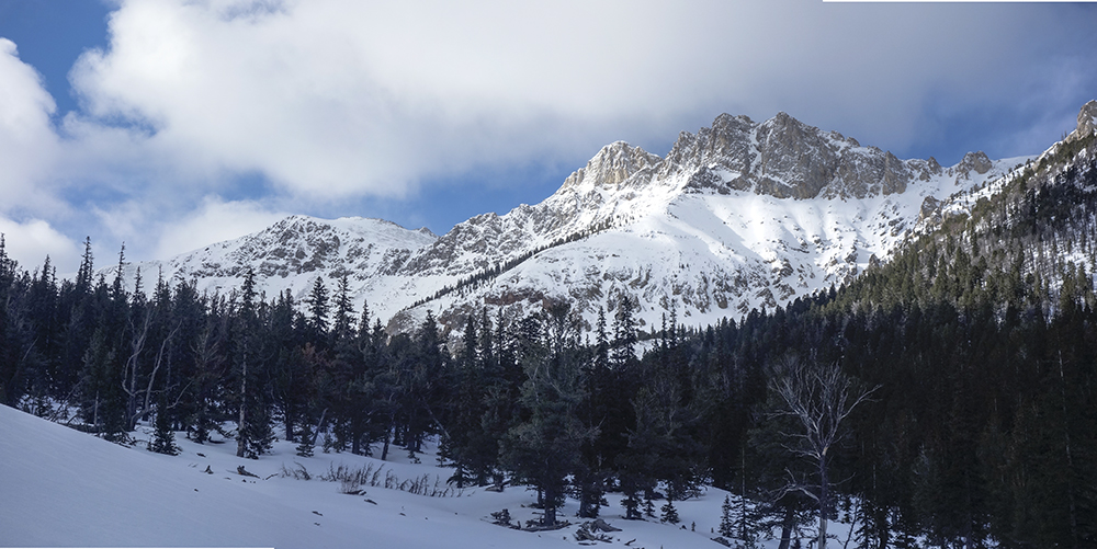 Nicholson Peak from,Bunting Canyon. Larry Prescott Photo