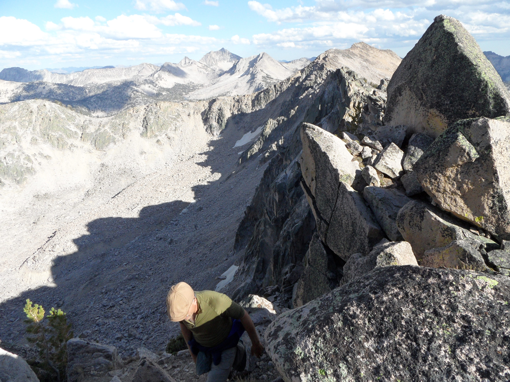 The southeast ridge of Benedict Peak presents a few challenges. John Platt Photo