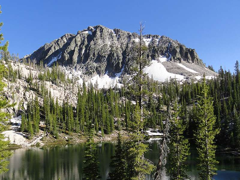 Alpine Creek Peak from Flytrip Basin. Dave Pahlas Photo