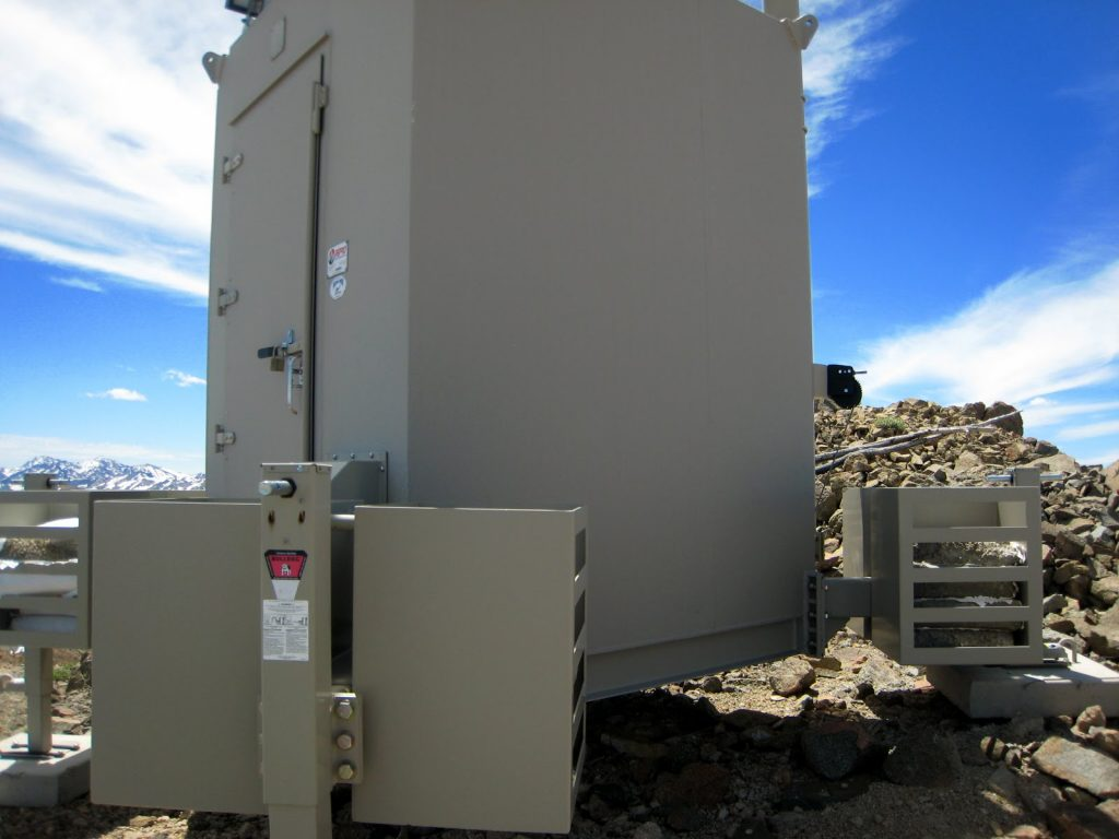 New weather station on top of Sheep Mountain. George Reinier Photo