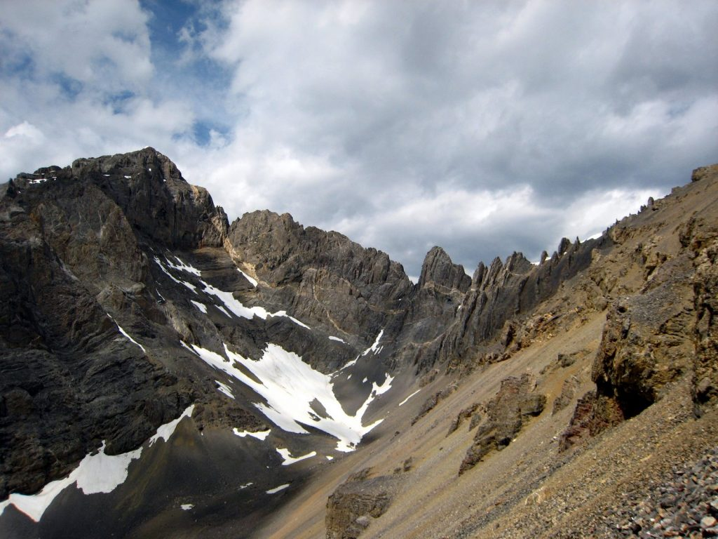 The Cleft's ragged north ridge. George Reinier Photo
