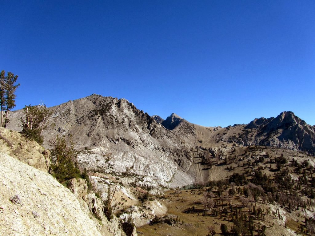 Peak 10840 (on the left) from Johnstone Pass. George Reinier Photo