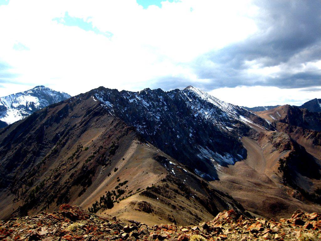 North Ryan Peak from Peak 10727 (Cougar Peak). George Reinier Photo