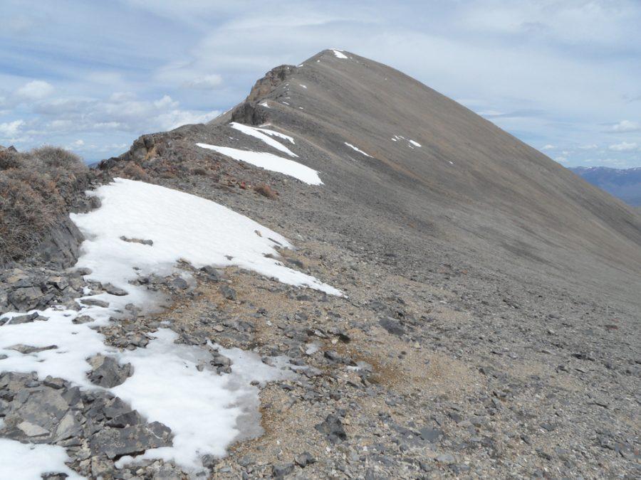 Peak 10878 from the saddle. John Platt Photo