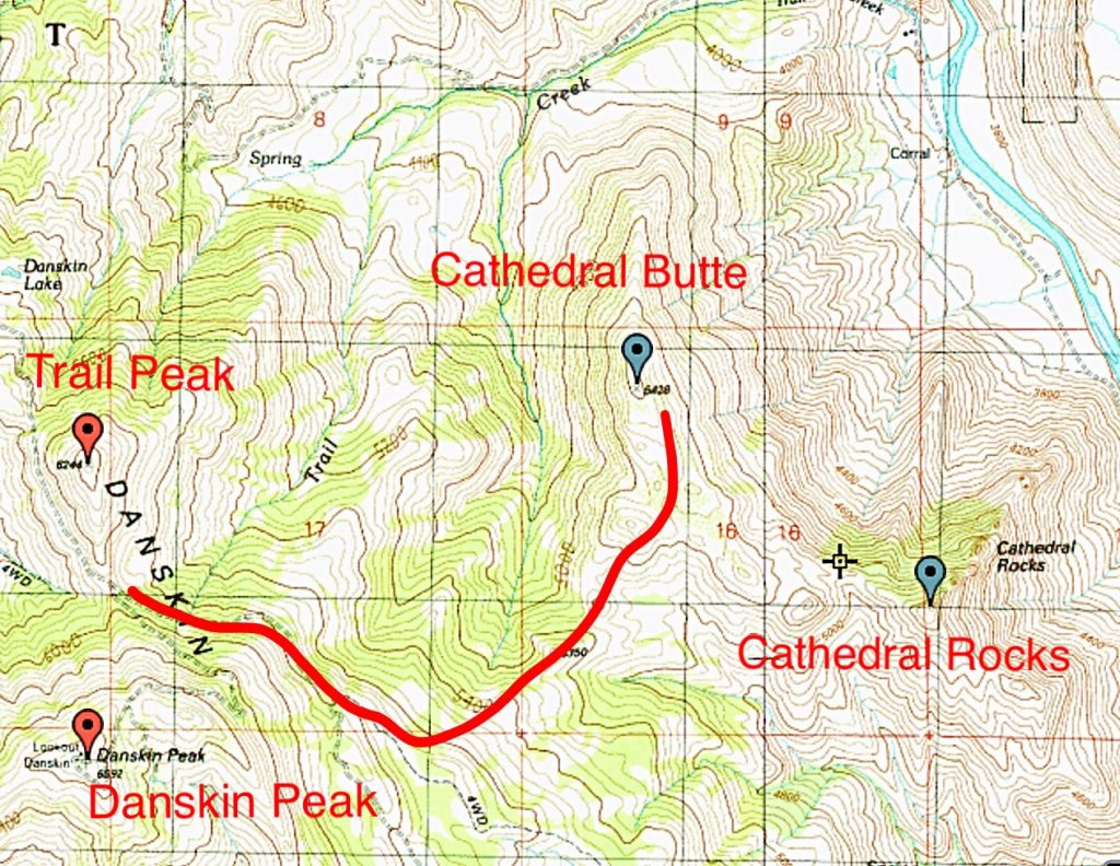 Cathedral Butte route.