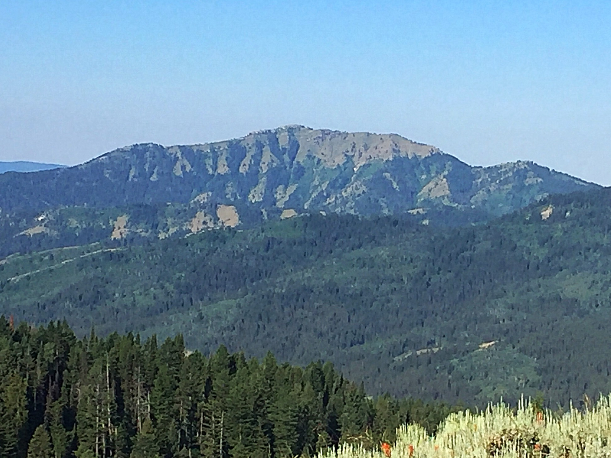 Stouts Mountain viewed from Peak 7800.