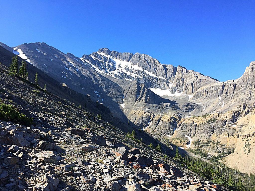 Borah's North Face from the north ridge on Mountaineers Peak.