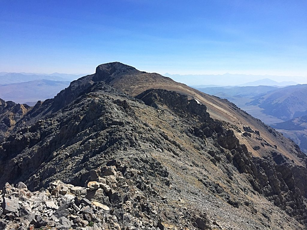 Looking east from Point 11715 to the true summit.