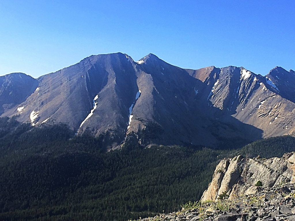 Mountaineers Peak viewed from Mahogany Trident.