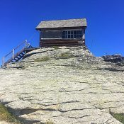 The scenic fire lookout is in poor condition.