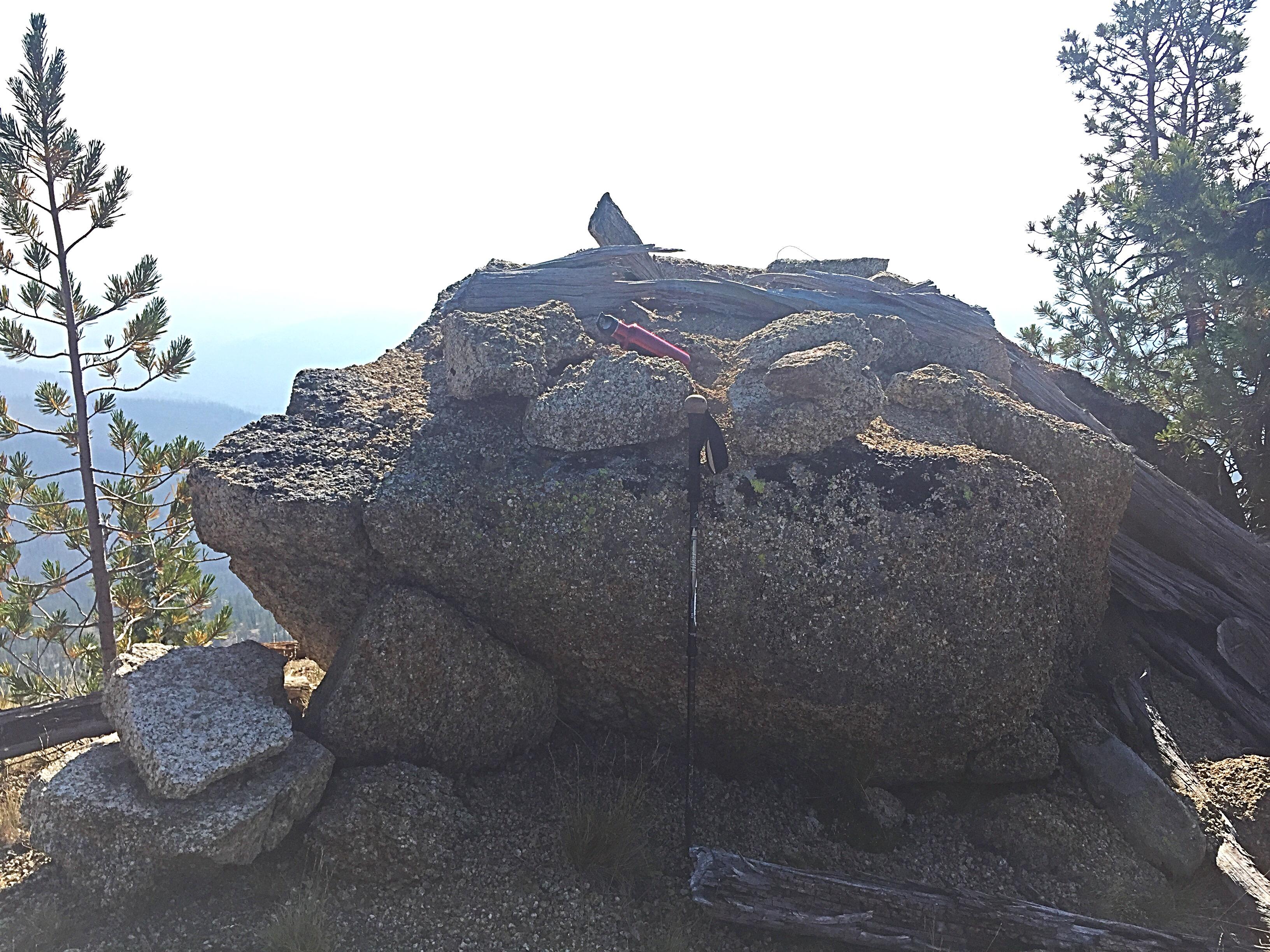 The summit rock.