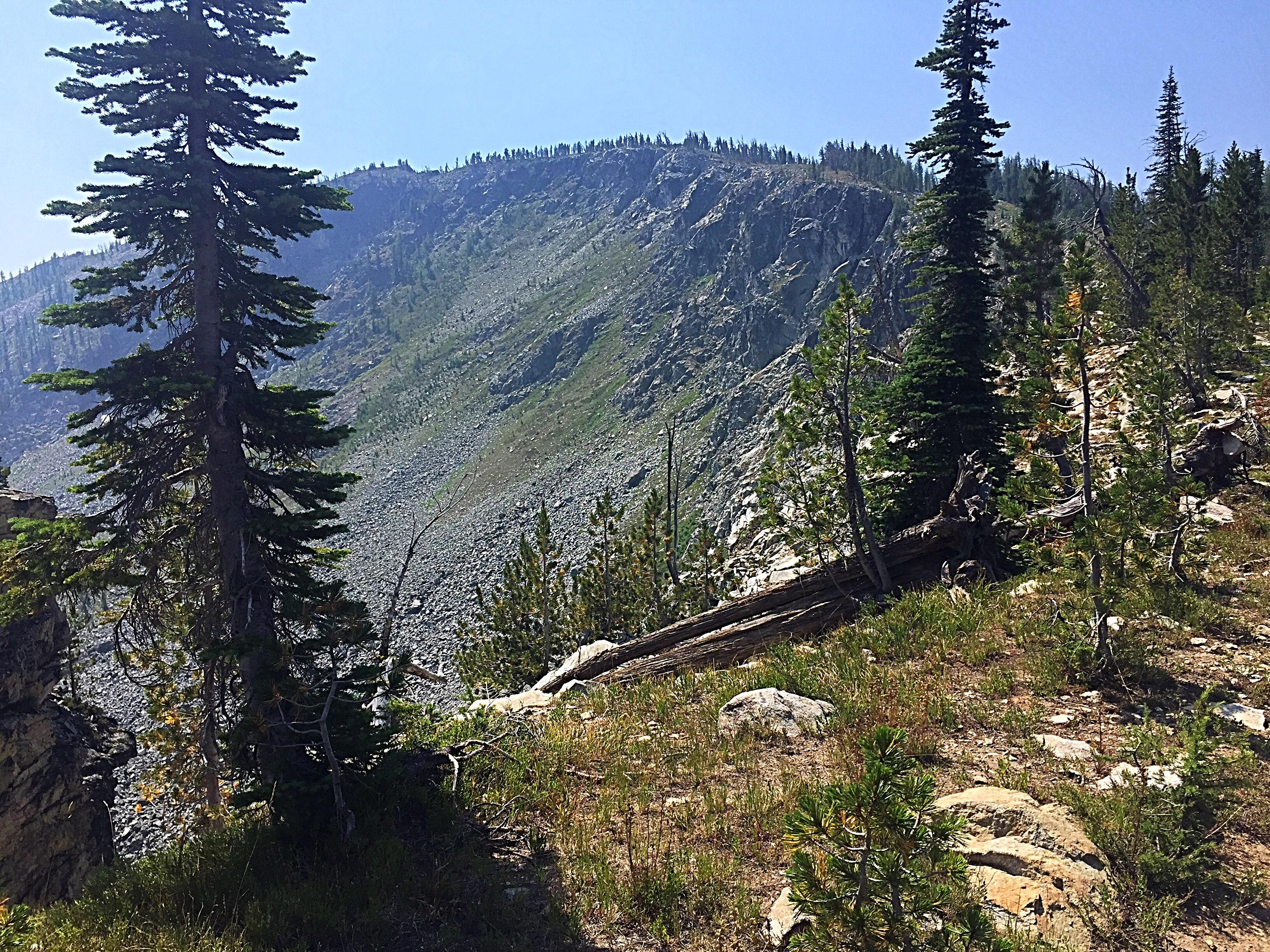 Salmon Mountain's northeast face.