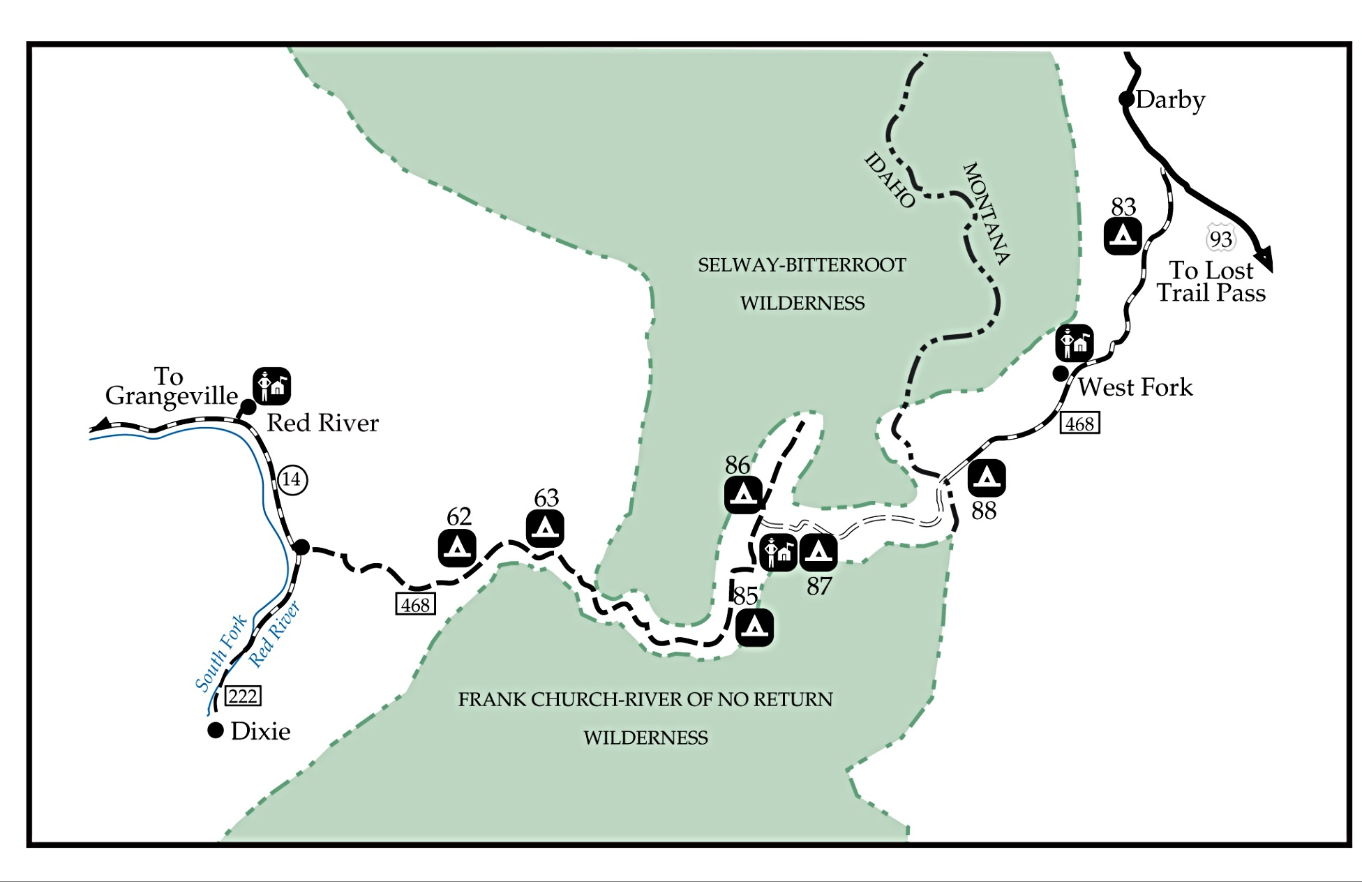This Forest Service map provides an overview of the entire route.