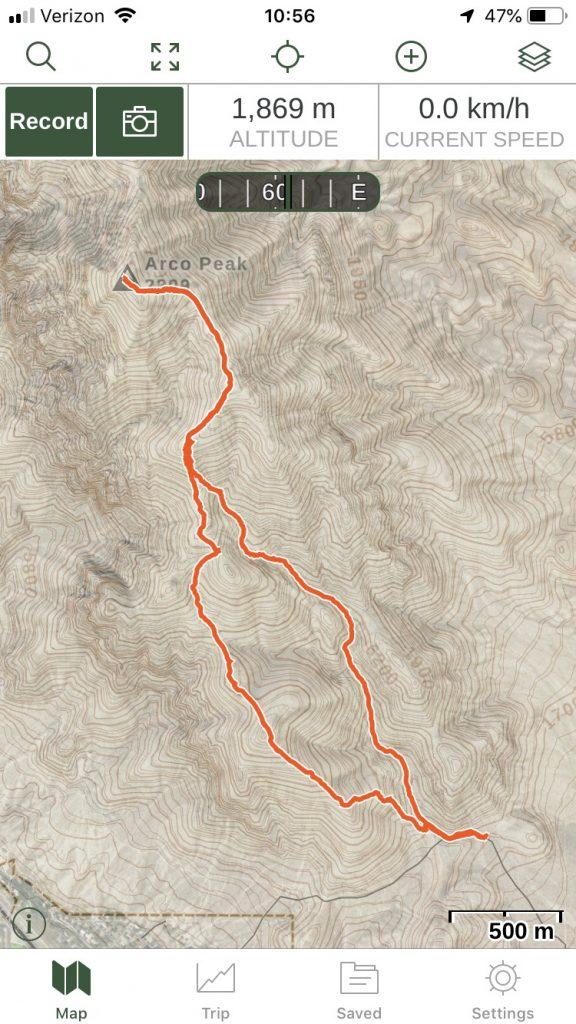 Arco Peak Track, Margo Mandella