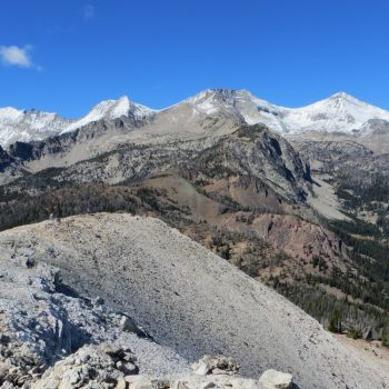 The view of Pioneer Peaks from the summit of White Mountain. Photo - Steve Mandella.