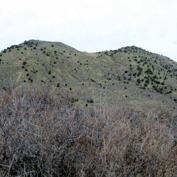 The double summit of Peak 5762. Photo - Steve Mandella