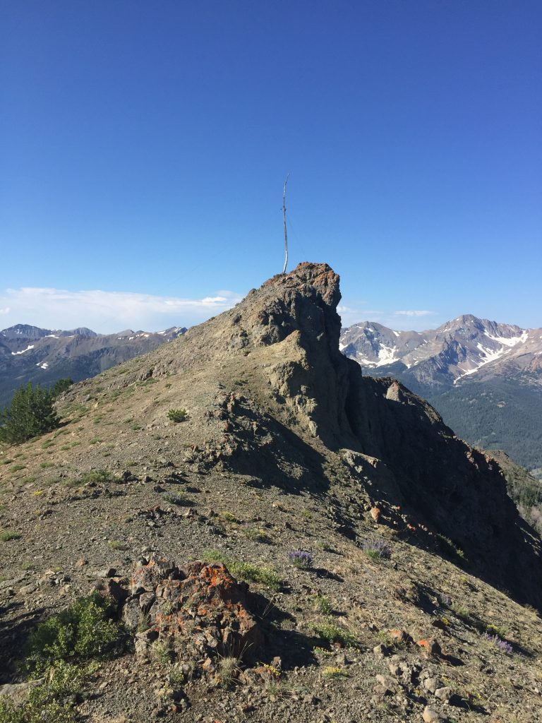 Meridian Peak's false summit.